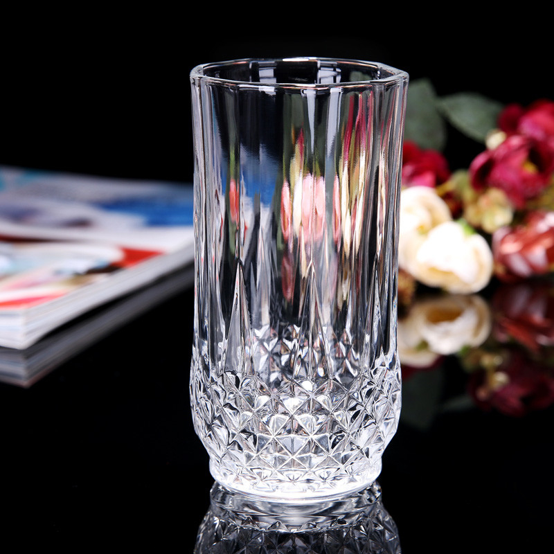 Diamond Design Big Whiskey Glass Cups Bar Lead Free Height 130mm 280ml Custom Logo